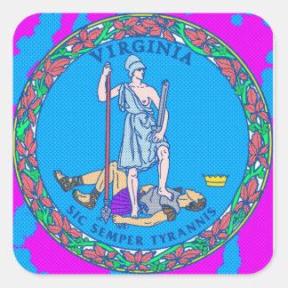 Virginia State Seal Pop Art Sticker