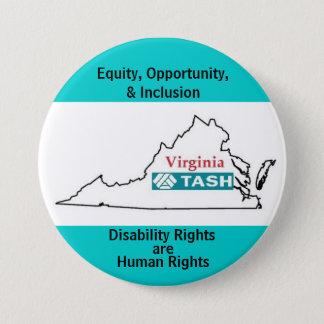 Virginia TASH 7.5 Cm Round Badge