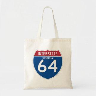 Virginia VA I-64 Interstate Highway Shield - Tote Bag