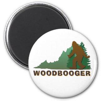 Virginia Woodbooger 6 Cm Round Magnet