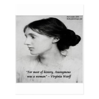 Virginia Woolf Anonymous Was A Woman Quote Postcard