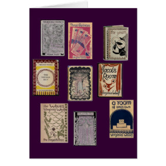 Virginia Woolf Books Card