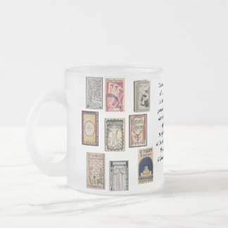 Virginia Woolf Books Frosted Glass Coffee Mug