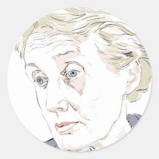Virginia Woolf Classic Round Sticker