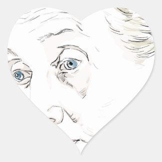 Virginia Woolf Heart Sticker