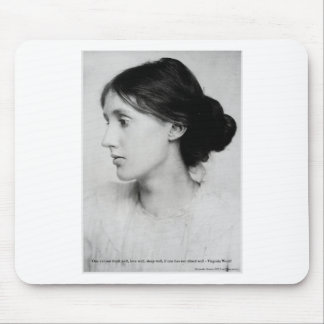 """Virginia Woolf """"Love Well"""" Love Quote Mugs & Gifts Mouse Pad"""