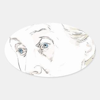 Virginia Woolf Oval Sticker