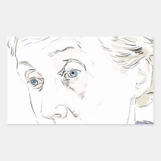 Virginia Woolf Rectangular Sticker