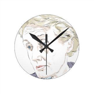 Virginia Woolf Round Clock