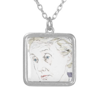 Virginia Woolf Silver Plated Necklace