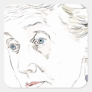 Virginia Woolf Square Sticker