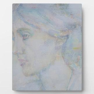 virginia woolf - watercolor portrait.1 plaque