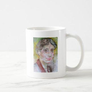 virginia woolf - watercolor portrait.2 coffee mug