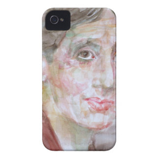 virginia woolf - watercolor portrait.2 iPhone 4 cover