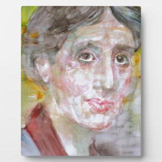 virginia woolf - watercolor portrait.2 plaque