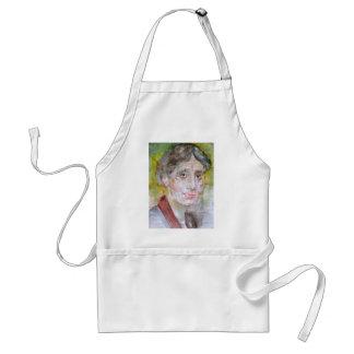 virginia woolf - watercolor portrait.2 standard apron