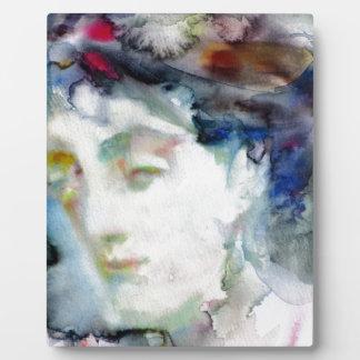 virginia woolf - watercolor portrait.3 plaque