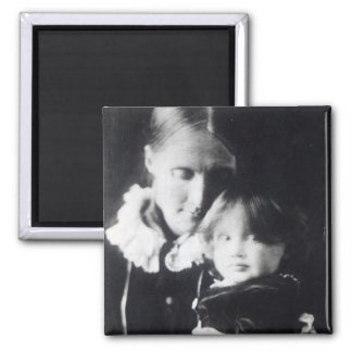 Virginia Woolf, with her mother Julia, 1884 Square Magnet