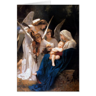 Virgin's cradle hymn card