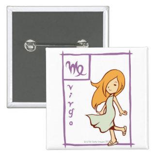 Virgo 15 Cm Square Badge