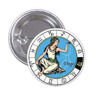 virgo 3 cm round badge