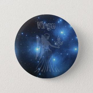 Virgo 6 Cm Round Badge