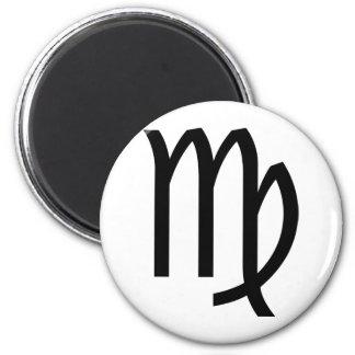 Virgo 6 Cm Round Magnet