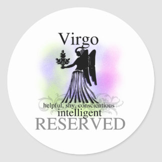 Virgo About You Classic Round Sticker