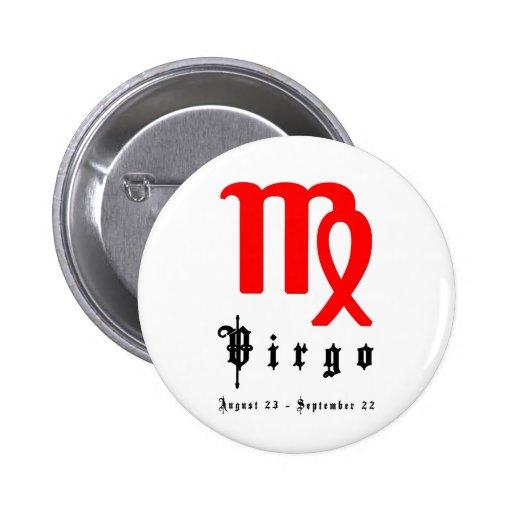 Virgo, August 23 - September 22 Button