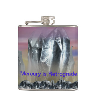 Virgo beware Mercury is Retrograde. Hip Flask