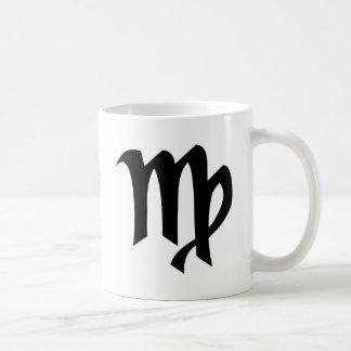 Virgo black white mug