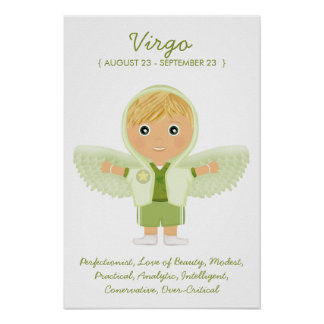 Virgo - Boy Horoscope Poster