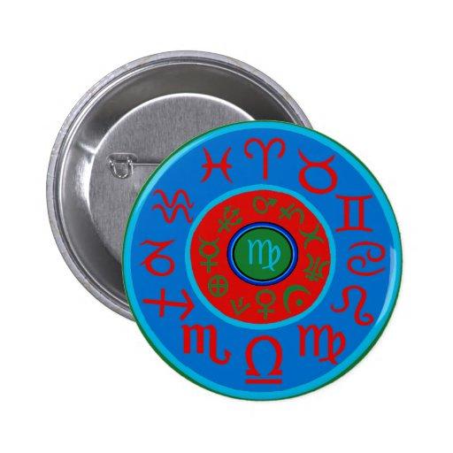 Virgo - Celestial Zodiac Pinback Buttons