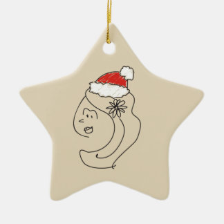Virgo Christmas Funny Astrology Red Star Cool Ceramic Ornament
