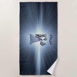Virgo chrome symbol beach towel