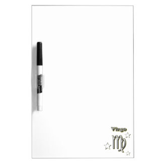 Virgo chrome symbol dry erase board