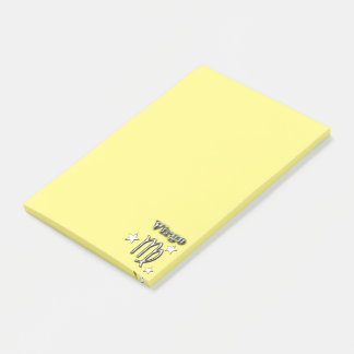 Virgo chrome symbol post-it notes
