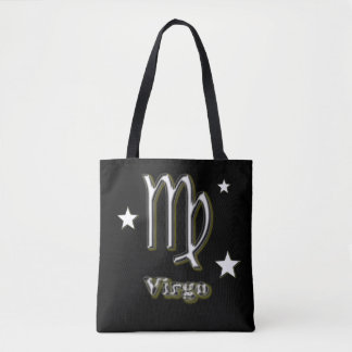 Virgo chrome symbol tote bag