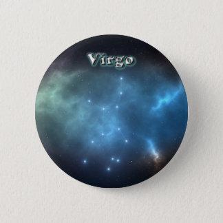 Virgo constellation 6 cm round badge