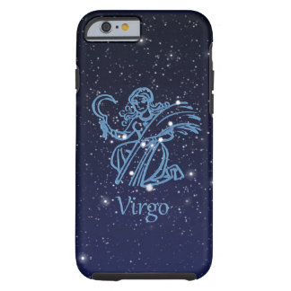 Virgo Constellation and Zodiac Sign with Stars Tough iPhone 6 Case