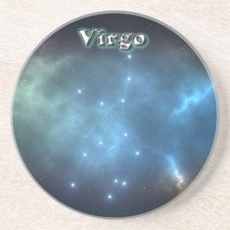 Virgo constellation coaster