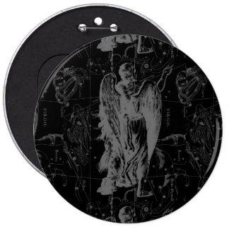 Virgo Constellation Hevelius 1690 Vintage 6 Cm Round Badge