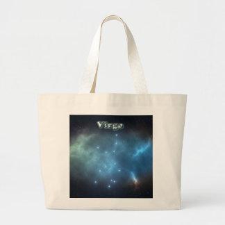 Virgo constellation large tote bag