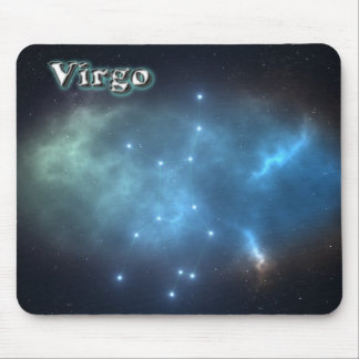 Virgo constellation mouse pad