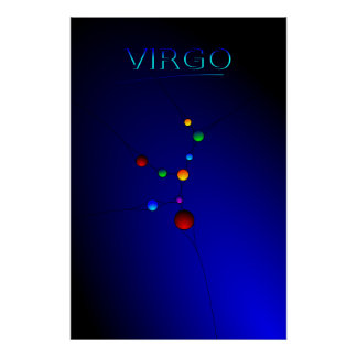 Virgo Constellation Poster