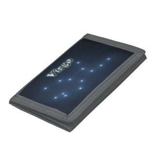 Virgo constellation trifold wallets