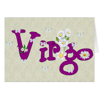 Virgo Flowers Card