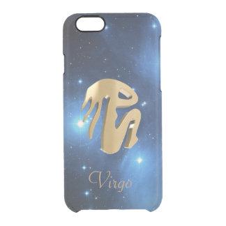 Virgo golden sign clear iPhone 6/6S case