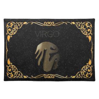 Virgo golden sign placemat