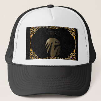 Virgo golden sign trucker hat
